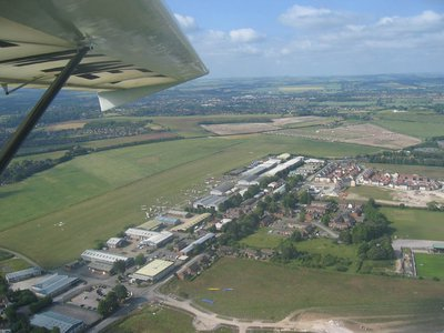 Arriving at Old Sarum airfield