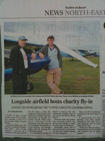 One of two newspaper reports on our visit to Longside