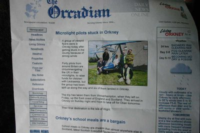 The Orcadian newspaper headlines for Monday, 12th June 2006