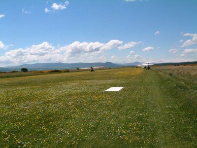Leaving the daisies and buttercups at Dornoch