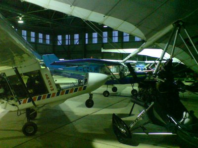 Squeezed into the North Coates hangar